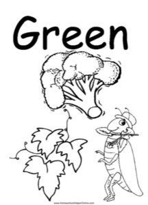Colors - Green Worksheet
