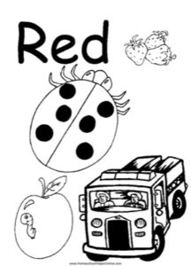 Colors - Red Worksheet