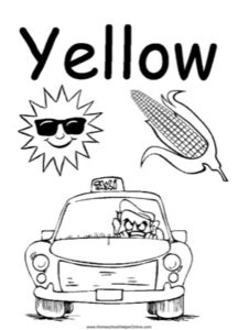 Colors - Yellow Worksheet