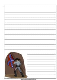 Confederate Soldier Notebooking Page