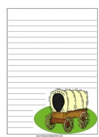 Covered Wagon Notebooking Page