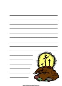 3 Crosses on Hill ~ Bible Notebooking Page