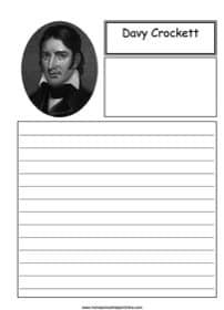 Davy Crockett Notebooking