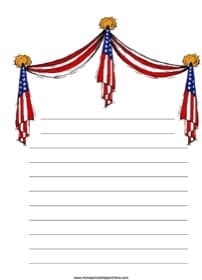 Draped Flags Notebooking Page