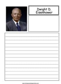 Dwight Eisenhower Notebooking