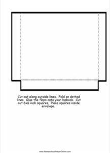 Large Envelope Lapbook Template