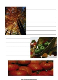 Fall Notebooking Page