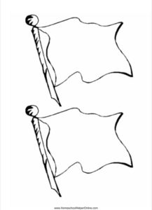 Flag shaped template