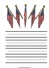Flag Elementary Notebooking Page