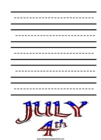 Fourth of July Elementary Notebooking Page