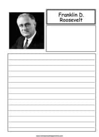 Franklin D. Roosevelt Notebooking