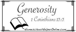 Generosity Character Study