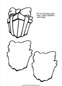 Gift shaped Lapbook Template