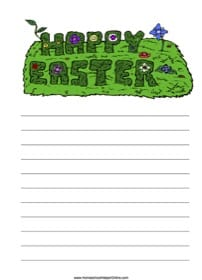 Happy Easter Notebooking Page