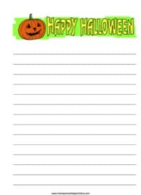 Happy Halloween Notebooking Page