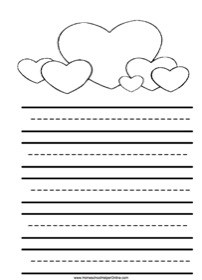 Valentine's Day Elementary Notebooking Page