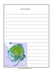 Hurricane Notebooking Page