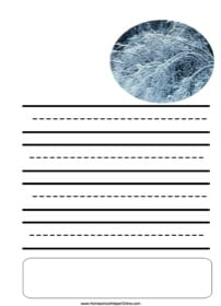 Ice Storm Notebooking Page