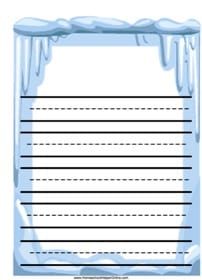 Icicles Notebooking Page