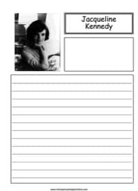 Jacqueline Kennedy Notebooking