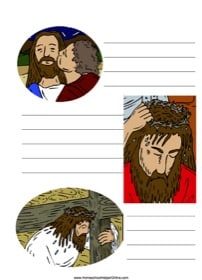 Jesus was Betrayed ~ Bible Notebooking Page