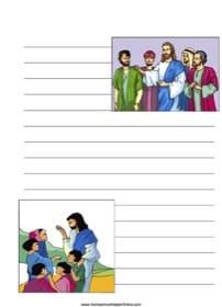 Jesus Teaching~ Bible Notebooking Page