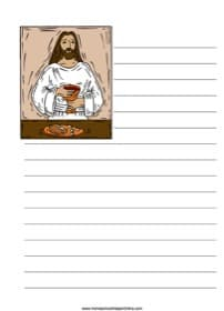 Jesus' Last Supper ~ Bible Notebooking Page