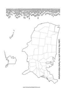 Label the States Worksheet