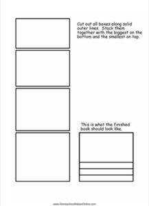 Layered Book Lapbook Template