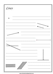 Lines ~ Geometry Notebooking Page