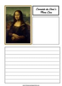 "Leonardo da Vinci's ""Mona Lisa"" Notebooking Page"
