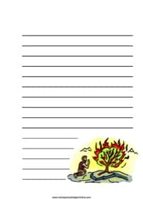 Moses & the Burning Bush ~ Bible Notebooking Page