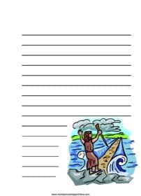 Moses Parting the Red Sea ~ Bible Notebooking Page