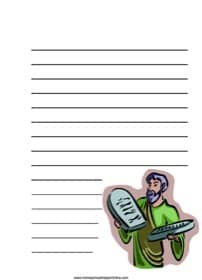 Moses & the Ten Commandments ~ Bible Notebooking Page