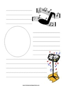 Music Notes Notebooking Page