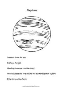 Neptune Worksheet