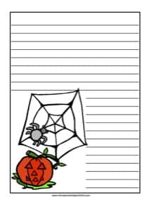 Pumpkin and Spider Web Notebooking Page