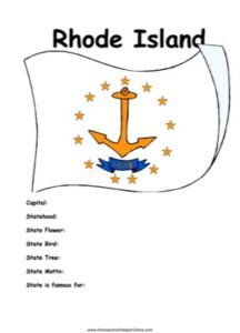 Rhode Island Worksheet