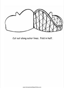Roller Coaster shaped Lapbook Template