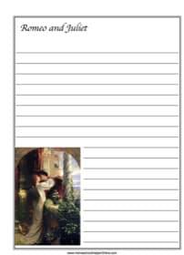 Romeo & Juliet ~ Literature Notebooking Page