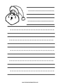 Santa Elementary Notebooking Page
