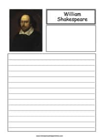 William Shakespeare Notebooking