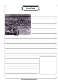 Atomic Bomb Notebooking Page
