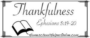 Thankfulness Character Study