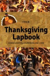 Free Thanksgiving Lapbook
