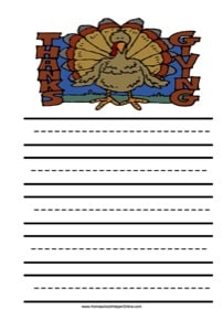 Thanksgiving Elementary Notebooking Page