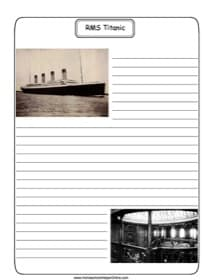 Titanic Notebooking Page