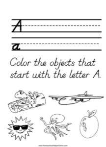 Alphabet Tracer Letter A Worksheet