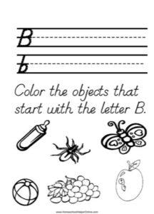 Alphabet Tracer Letter B Worksheet