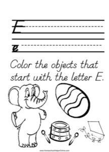 Alphabet Tracer Letter E Worksheet